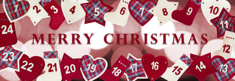 Christmas advent card Royalty Free Stock Photos