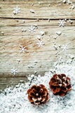 Christmas or Advent pine cone background Royalty Free Stock Photos