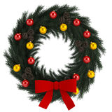 Christmas advent wreath isolated on white Royalty Free Stock Photo