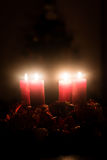 Christmas advent wreath Stock Images