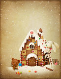 Christmas Adventure Bunny and Bear. Royalty Free Stock Images