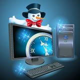 Christmas advertising computer equipment Stock Photos