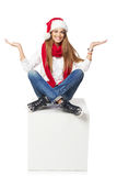Christmas advertising concept Stock Image