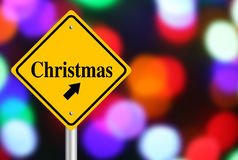 Christmas Ahead Royalty Free Stock Photography