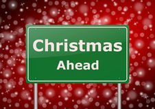 Christmas ahead traffic sign Stock Images