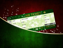 Christmas airline boarding pass ticket in pocket Stock Image
