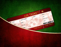 Christmas airline boarding pass ticket in pocket Stock Photography