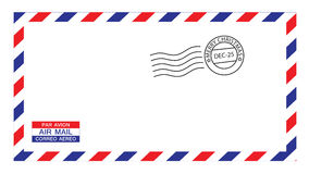 Christmas airmail envelope stock illustration