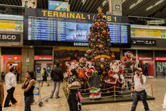 Christmas Airport Sao Paulo Royalty Free Stock Photo