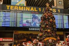 Christmas Airport Sao Paulo Stock Photos