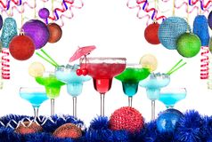 Christmas alcohol drinks set Stock Images