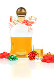 Christmas alcohol stock photography