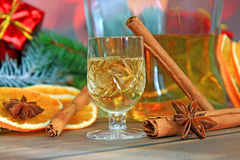 Christmas Alcohol Royalty Free Stock Photos