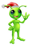 Christmas alien Royalty Free Stock Photos