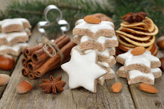 Christmas almond cookies Stock Photography