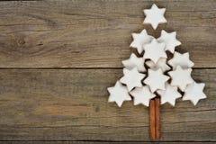 Christmas almond cookies Stock Photo