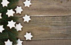 Christmas almond cookies Stock Image