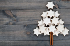 Christmas almond cookies Royalty Free Stock Image