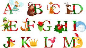 Christmas alphabet Royalty Free Stock Images
