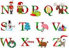 Christmas alphabet Stock Photo