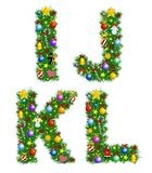 Christmas Alphabet royalty free illustration
