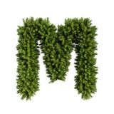 Christmas tree letter M. Christmas alphabet ABC character letter M font. Christmas tree branches capital letters decoration type. Highly realistic 3d rendering vector illustration