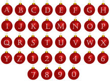 Christmas alphabet balls Royalty Free Stock Images
