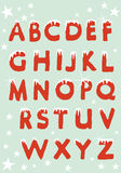 Christmas ALphabet hung with snow Stock Photography