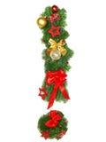 Christmas Alphabet Letter !. Isolated on white background Stock Photos