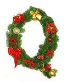 Christmas Alphabet Letter Q. Isolated on white background Stock Image