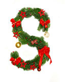Christmas Alphabet Letter S. Isolated on white background Stock Image