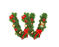 Christmas Alphabet Letter W Royalty Free Stock Image