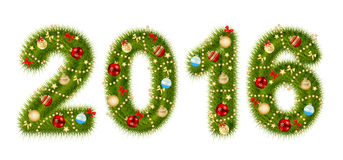 Christmas 2016 Alphabet Number Vector Illustration Stock Images