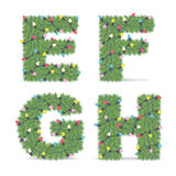 Christmas Alphabet Royalty Free Stock Photography