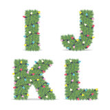 Christmas Alphabet Stock Photography