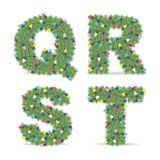 Christmas Alphabet Stock Images