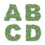 Christmas Alphabet Royalty Free Stock Image