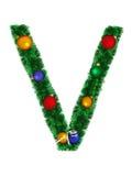 Christmas alphabet - V Stock Photography