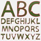 Christmas Alphabet. Vector illustration Christmas fir Alphabet Royalty Free Stock Photography