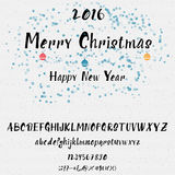 Christmas alphabet written by hand for any use Stock Photography