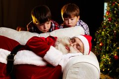 Christmas amazement Royalty Free Stock Photo