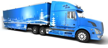 Christmas American semi-trucks Stock Image