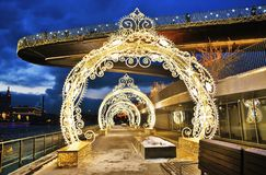 Christmas And New Year 2019 Decorations In Zaryadye Park In Moscow. Stock Images