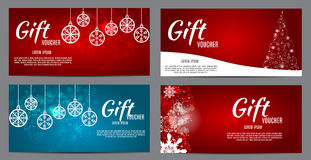 Christmas And New Year Gift Voucher, Discount Coupon Template Royalty Free Stock Photo