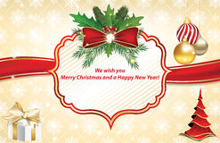 Free Christmas And New Year Greeting Card Royalty Free Stock Images - 80043719