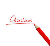 Christmas And Pencil Stock Image
