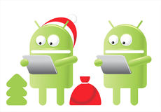 Christmas Android Royalty Free Stock Photos