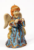 Christmas angel 03. Ceramic christmas angel on a white backgorund Royalty Free Stock Photography