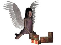Christmas angel. stock photography