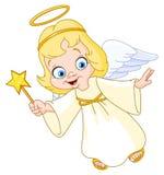 Christmas angel. Illustration of a Christmas angel Stock Photo